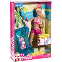 Set De Barbie Y Perritos Con Piscina. Nuevo, Original