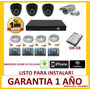 Cctv Kit Dvr 8 Canales + 4 Camaras De Seguridad Disco 750 Gb