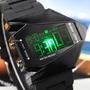 Reloj Estilo Plano Elegante Pantalla Digital De Silicona