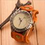 Reloj Para Dama Pulsera En Cuero Diseño Elegante Foto Real