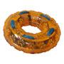 ¡ Juguete Tpr Aro Con Cordón Textur Huella Mascota Naranja !