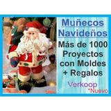 Kit Moldes De 1000 Peluches Muñecos Navideños En Español Co