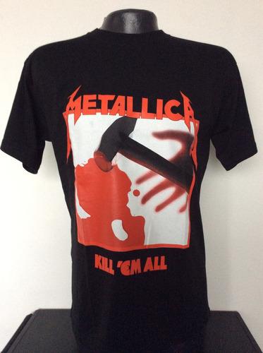9db5c8aa99723 Camiseta Metallica Kill Em All Rock Metal Anime Comics Salsa