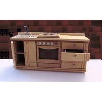 Kit Parcial 6 Piezas Muebles Casa Barbie Incluye Cocina