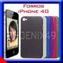 Forro Para Iphone 4 Protector Acrilico Silicona Carcasa 4g