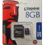 Memoria Microsd Micro + Sd Kingston 8gb 8 Gb 100% Original