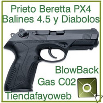 Pistola Pietro Beretta Px4 Storm Balines Diabolos Manifiesto