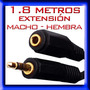 Cable Extension 3.5mm Macho Hembra Stereo Audifonos Plug Mp3