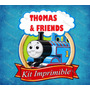 Kit Imprimible Tren Thomas Y Amigos - Invitaciones Cards