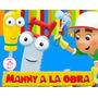 Kit Imprimible Manny A La Obra Diseñá Tarjetas Cotillon #2