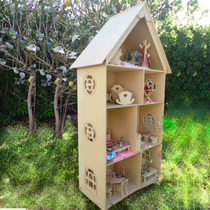 Casa Muñecas Barbies Juguetes Madera Decoracion Tres Pisos