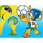 Kit Imprimible Mundial Brasil Diseñá Tarjetas Invitaciones