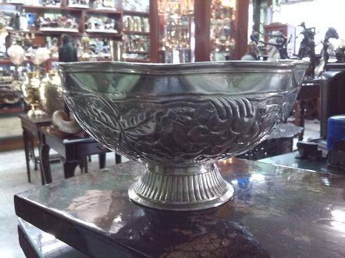 Frutero antiguo tallado italiano en bronce con ba o en for Bano de plata precio