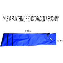 Manta Térmica Vibradora Abdominal + Gel Térmico De 500 Gr
