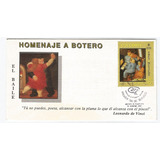 Sobre Primer Dia Estampillas Maestro Fernando Botero 1989