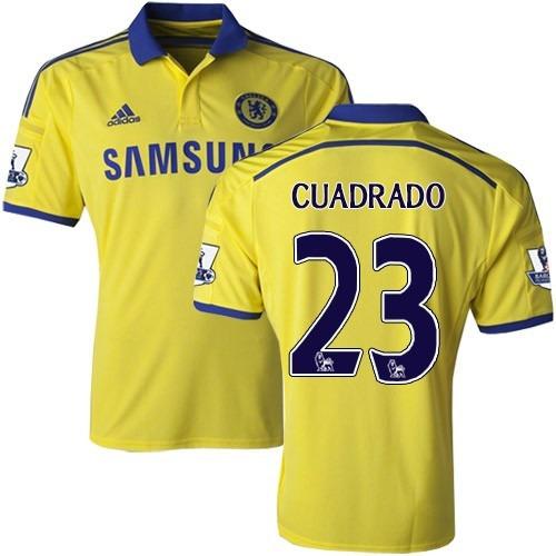 08f3851f02 Camiseta Chelsea Visitante 2015 Cuadrado No. 23 Amarilla