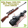 Rifle Ruger Airhawk 1000 Fps 4.5 Mira Zoom 3a9x32 Mil Dot