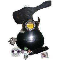 Guitarra Afinador Correa 3 Pick Porta Pick Metodo Dvd Y Mas