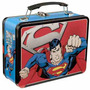 Lonchera Metalica Superman Dc Estilo Retro Man Of Steel