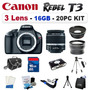 Canon Eos Rebel T3 1100d + 18-55 3 Lentes Kit +16gb + Maleta