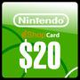 Nintendo Eshop $20 Dolares Tarjeta Prepago Para Wii U Y 3ds