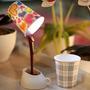 Lámpara De Mesa Usb Sirviendo Bebida, Café 3 Modelos De Vaso