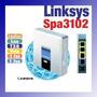 1fxo + 1fxs Linksys Spa 3102 T38 Fax Linea Fija Voip Sip Pbx