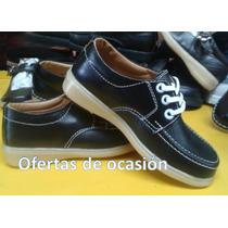 Zapato Colegial De Cuero
