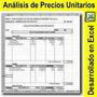 Analisis De Precios Unitarios En Excel