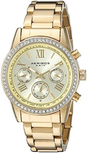 Relojes Mujer Akribos Xxiv Ak872yg Champagne Ronda Tono 175
