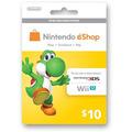 Nintendo Eshop 3ds Wii U $10 Dólares Tarjeta Card Prepago