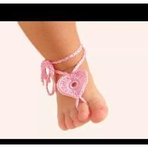 Sandalia Bebe Pies Descalsos,tejidas Crochet 2 Pares