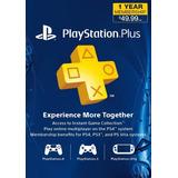 Playstation Plus 1 Año Ps4, Ps3, Psvita Envio Inmediato