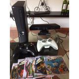 Consola Xbox360-kinect-2controles-10 Juegos- Programada 5.0