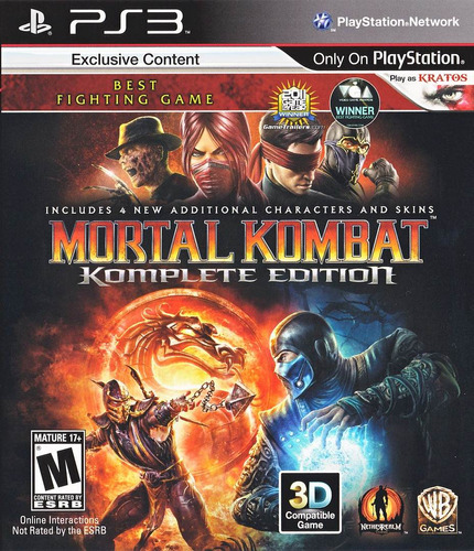 Mortal Kombat Ps3  Komplete Version Completa Mk9 Ps3