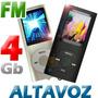 Mp4 4gb Altavoz Radio Fm Puerto Microsd Expandible Graba Voz