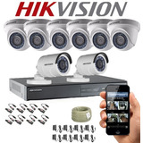 Kit Hikvison Dvr Turbo Hd 8ch + 8 Camaras De Seguridad T Hd