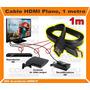 Conecte Dispositivos Hdmi Cable Plano 1m Computoys Zhdm01p