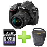 Cámara Nikon D3400 + 16gb + Estuche Full Hd Bluetooth