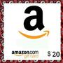 Tarjeta De Regalo Amazon ( Gift Card ) $20 Usd [ Código ]