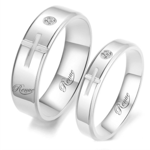 c66f59e82b00 Argollas De Matrimonio Plata Baño Oro Blanco Compromiso C u