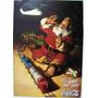 Cocacola, Afiche Navidad Papa Noel Con Tren 39 Cm X 49 Cm