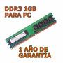 Remato Memoria Ram Ddr3 1gb Para Pc De Escrito - 1 Año Gtia