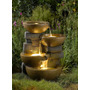 Fuente De Agua Cascada Con Luces Led Poliresina Fibra Vidrio