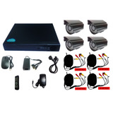 Cctv Kit Dvr 4 Canales + 4 Cámaras De Seguridad 1080 P