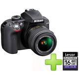 Cámara Nikon D3300 +18-55mm  Vr + 16gb