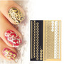 ¡ Kit Decals 3d Metal Nail Art Decoración Uñas X4 Texturas !