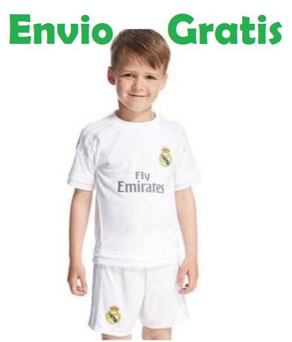 Camiseta Oficial Real Madrid 2015-2016 Niño Original adidas 16a0699f11091