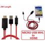Cable Micro Usb A Hdmi 1080p Hd Tv Para Samsung S3 S4 Galaxy