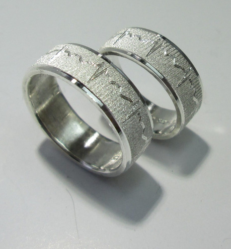 097155bbdbbe Argollas De Matrimonio En Plata 925 Grabado Precio Par